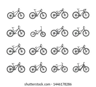 Collection of bike vector icons