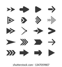 Collection black arrows icon