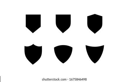 collection black shield logo icon template