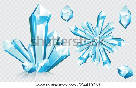 5640e2aa3c78 Collection Blue Ice Crystals Crystal Snowflake Stock Vector (Royalty ...