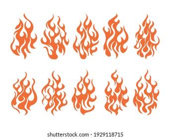 Collection of bonfire icon set. Design element