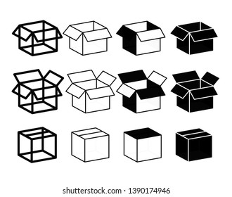 Collection Box icon.Simple Set of Abstract Product Related Vector Line Icons.