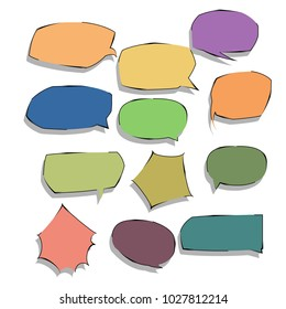 collection of bubble speech pop art quote box template illustration vector