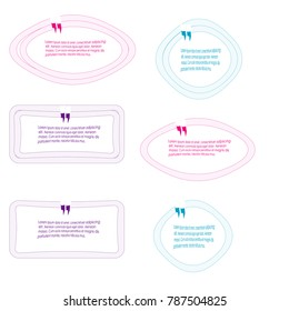 collection of bubble speech quote box template illustration vector isolated on white background