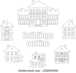 Collection of buildings outline