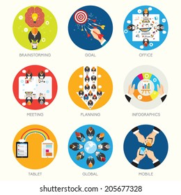 Collection of Business and Office Conceptual Vector Design