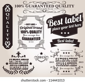 Collection of calligraphic design elements and retro vintage labels, vector