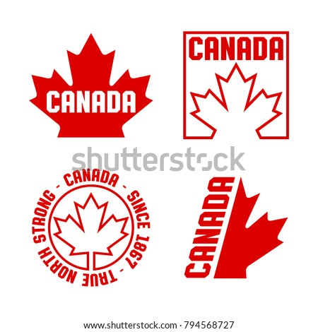 Collection Canadian Crests Badges Vector Format Stock Vector