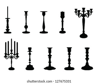 Collection of candlesticks-vector