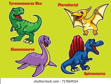 collection of cartoon baby dinosaurs