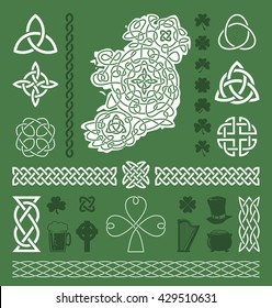 Collection of celtic / irish vector design elements