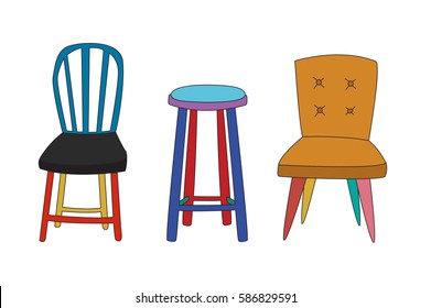 Collection of chairs.