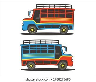 A collection of chiva bus colombia.