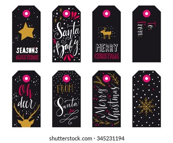 Christmas Name Card Stock Vectors Images Vector Art Shutterstock