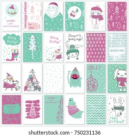 Collection of Christmas greeting cards templates 2018