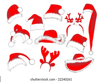 Collection of Christmas hats