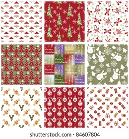 Collection of Christmas repeating swatches