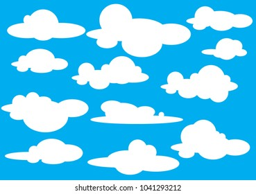 Collection of cloud icon  shape  label  symbol. Graphic element vector. Vector design element for logo  web and print.