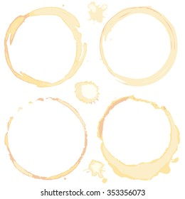 Collection of coffee cup stain rings