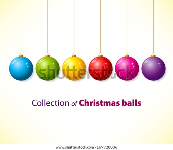 Collection of color christmas balls