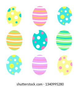 A collection of colorful Easter eggs