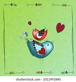 collection of comic birds in cartoon style. Cute characters. Vector background.