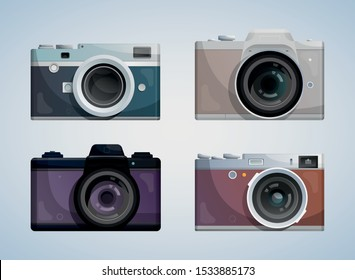 Collection of compact photo cameras