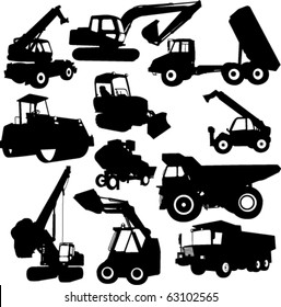 collection of construction machine - vector