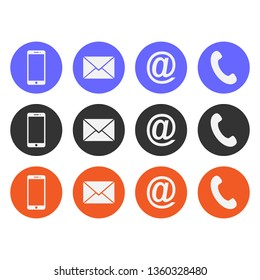 Collection of contact icon