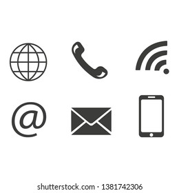 collection of contact icon vector