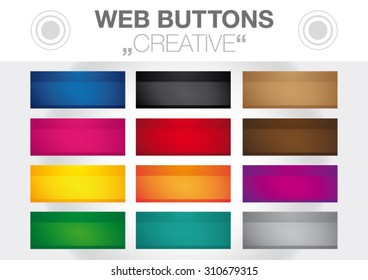 Collection Of Creative Color Web Buttons