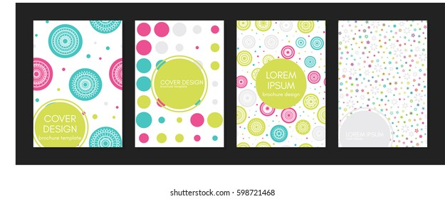 Collection of creative covers. Beautiful backgrounds. Applicable for banner, poster, card, cover, invitation. Vector template. Isolated.