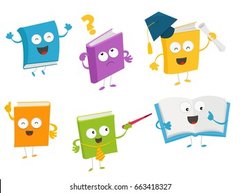 Collection of Cute Book Characters