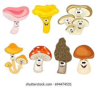 mushroom cartoon images stock photos vectors shutterstock rh shutterstock com mushroom cartoon images mushrooms cartoon drawings