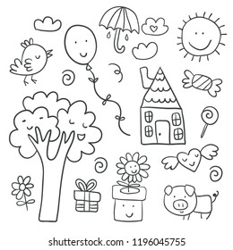 Childrens Drawings Images, Stock Photos & Vectors | Shutterstock
