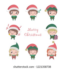 Collection of cute little elves