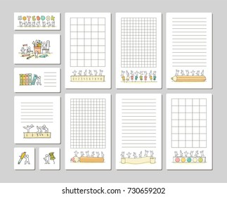 collection cute notes cards stickers tags stock vector royalty free