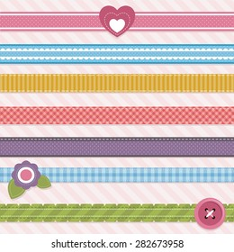 Collection of cute ribbons