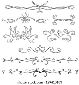 Collection of decorative frame elements