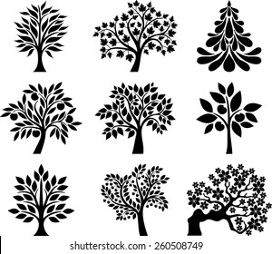 Collection of decorative trees