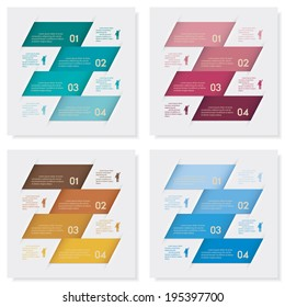Collection of design clean number banners template/graphic or website layout. Vector.
