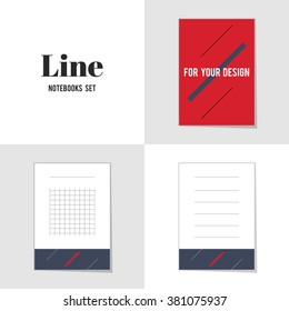 Collection Diagonal Line for Your Design notebooks, stickers, labels, tags. Template for scrapbooking, wrapping, notebooks