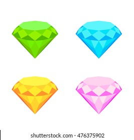 Collection of diamonds. eps10 vector illustration
