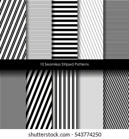 Collection of different backgrounds simple, straight lines. The horizontal lines, vertical lines, diagonal lines, minimalist and tasteful, vector eps10