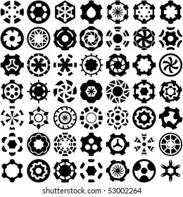 Collection of different graphic elements.