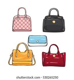 Handbag Cartoon Images Stock Photos Vectors Shutterstock