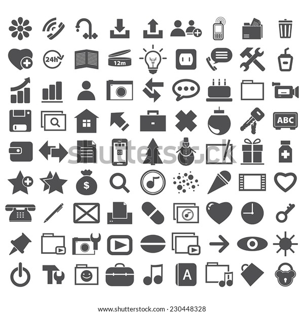 Collection different internet icon
