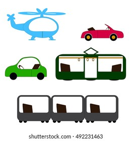 collection of different transport