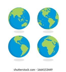 Collection of earth - Vector
