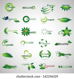 Collection Of Ecology Icons - Set - Isolated On Gray Background - Vector illustration, Graphic Design, Editable For Your Design. Logo Symbols